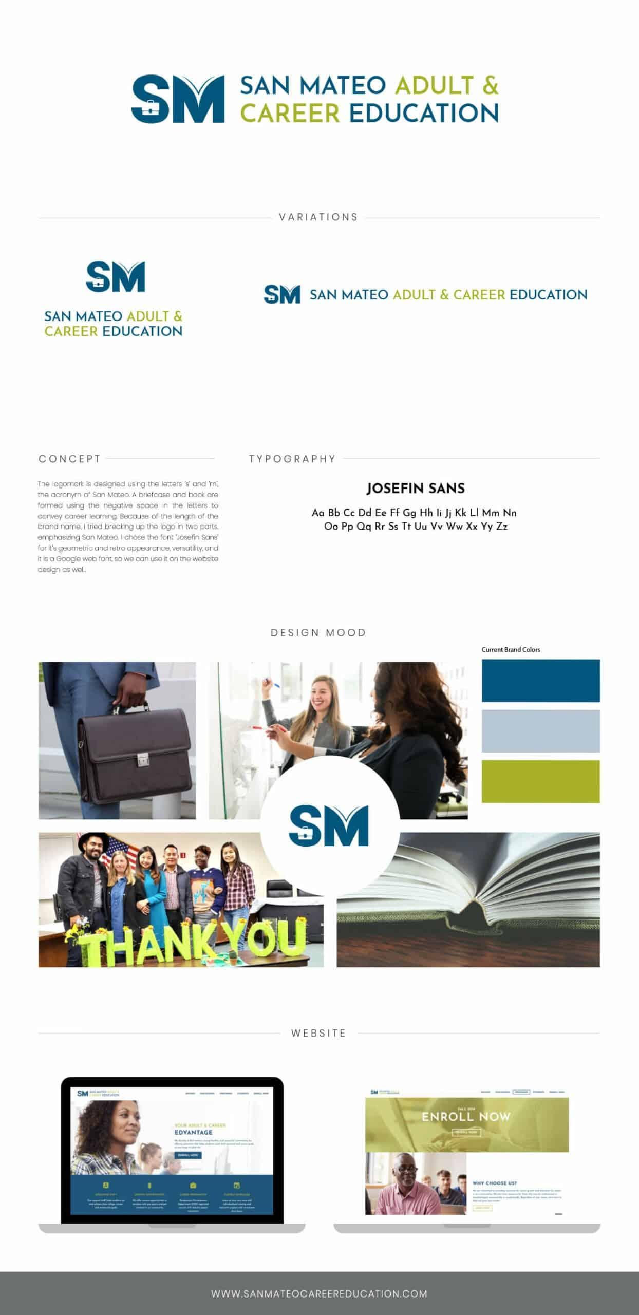 San Mateo Adult & Career Education Mood Board