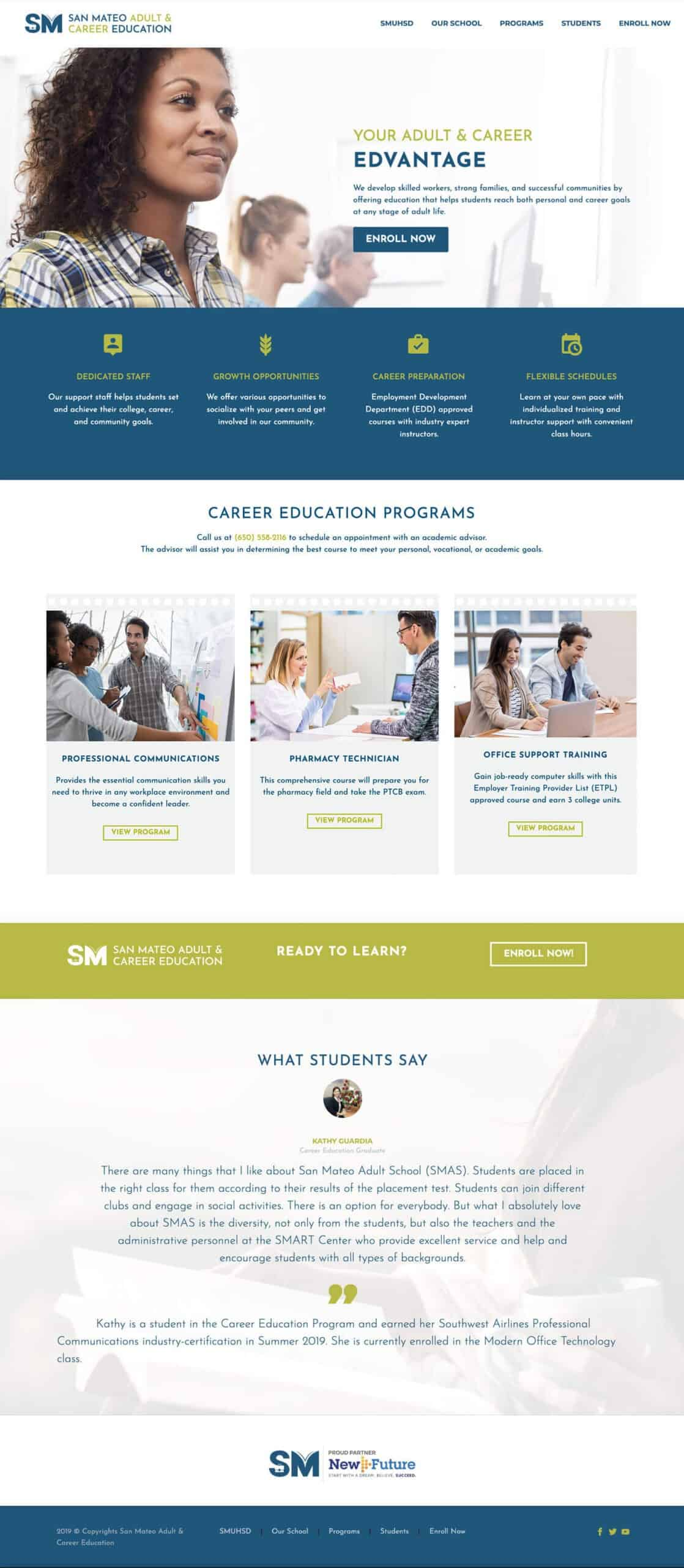 San Mateo Adult & Career Education Web