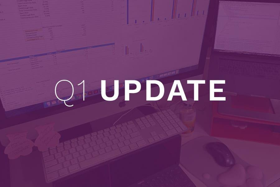 First Quarter Update on JMR Digital Marketing
