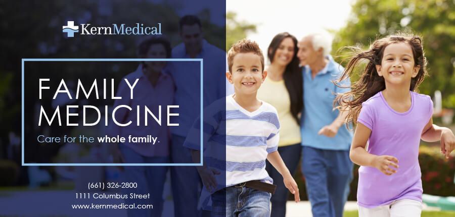 Kern Medical Family Medicine Bus Ad