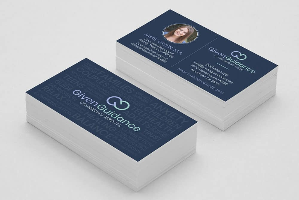 Given Guidance Business Card Design