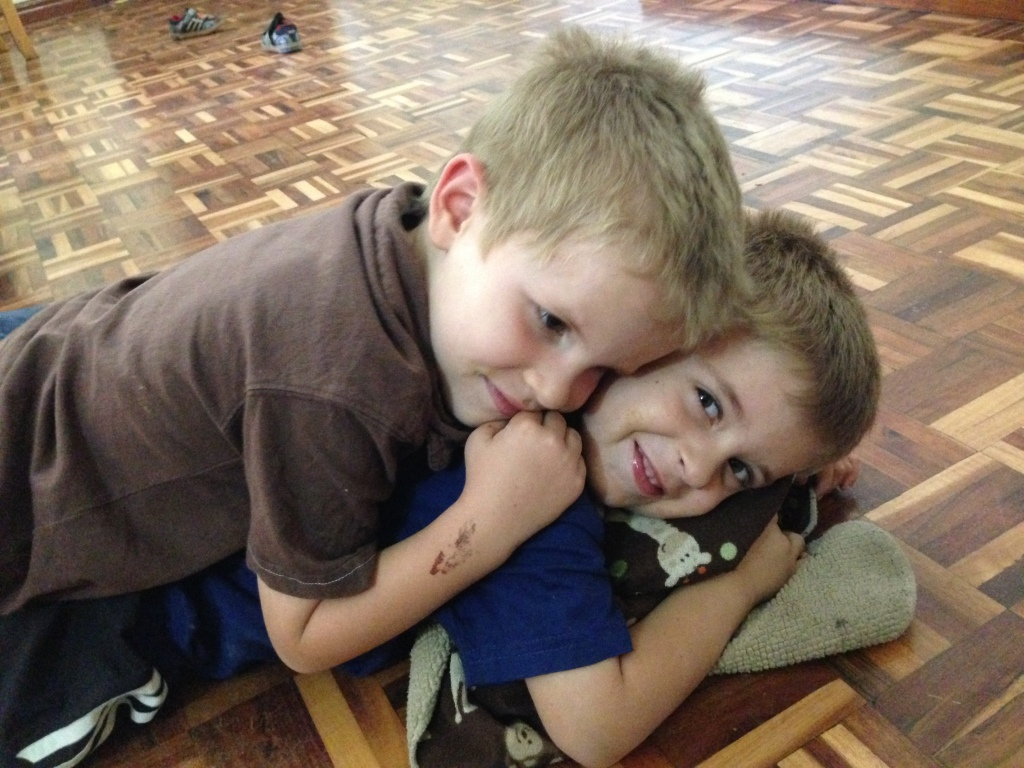 02.03-Brothers wrestling...