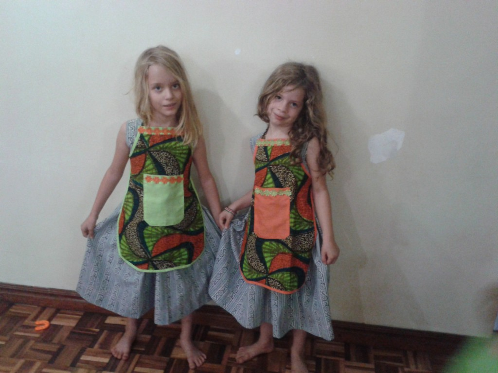 20-aprons and dresses made at the tailor for the girls