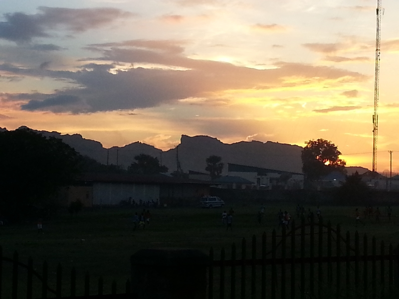 04-A beautiful Juba sunset
