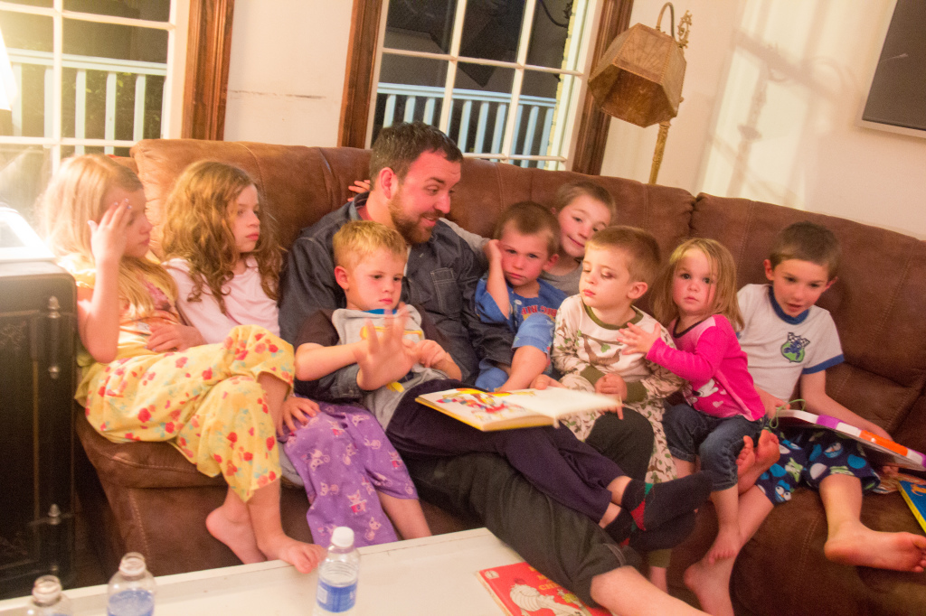 "03.05 - Storytime with all the ""cousins"" with Uncle B..."