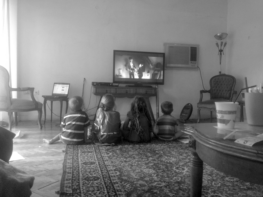 01.01-Movie time after a long day of packing up the house