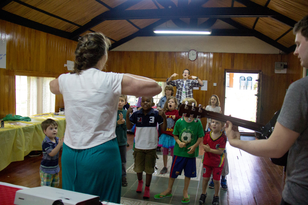 Kid's camp with songs and motions which are still being chanted around our home in a fine Scottish accent :-)