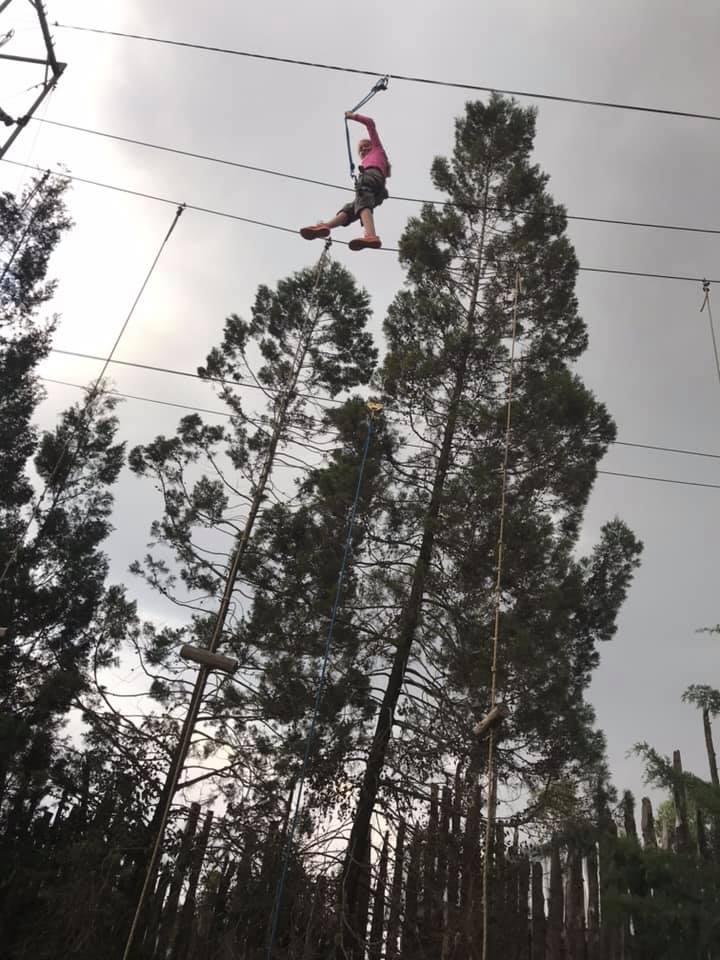 high ropes walking