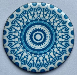 Anne Dinan True Blue Enamel Platter