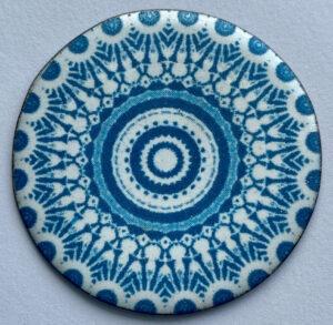Anne Dinan True Blue Enamel Platter