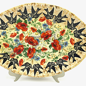 Blackbird platter, Lisa Rogers