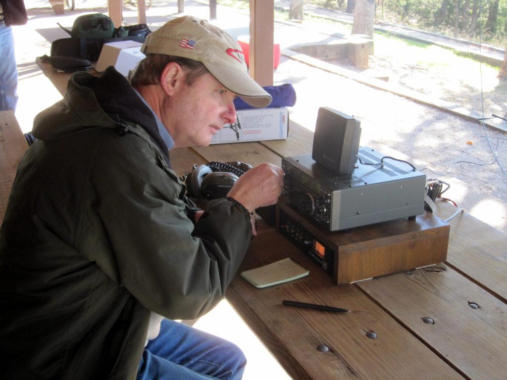 Ken, WB5FSR, listening for signals