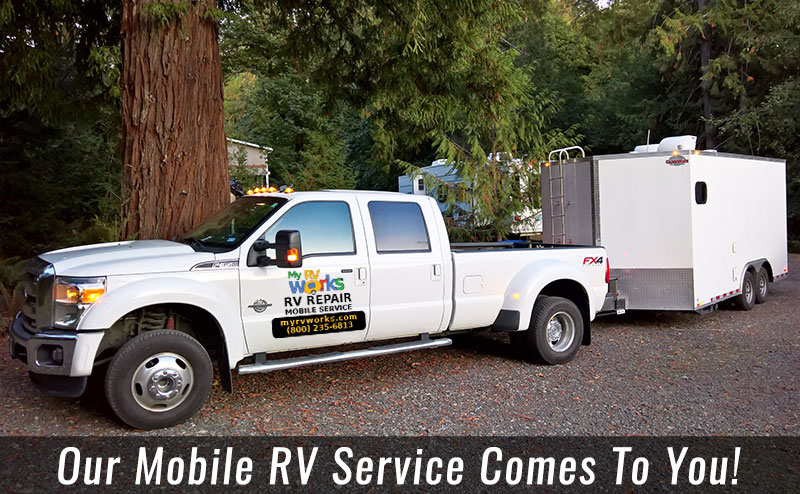 My RV Works Service Truck and Trailer