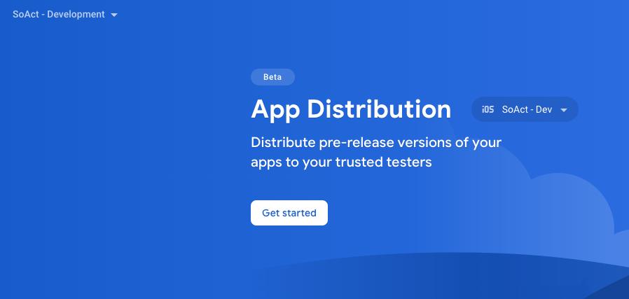 Firebase App Distribution web 1
