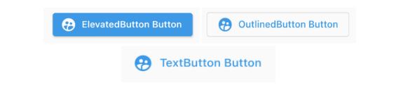 elevated button outlined button text button Flutter button widget