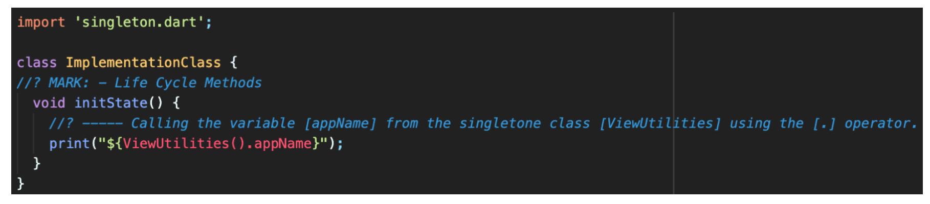 How To Create Singleton In Dart