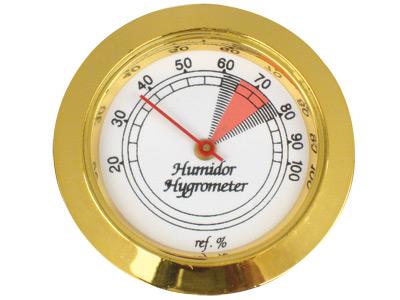 """$7.99 – Gold Round Analog Hygrometer 1.75"""""""