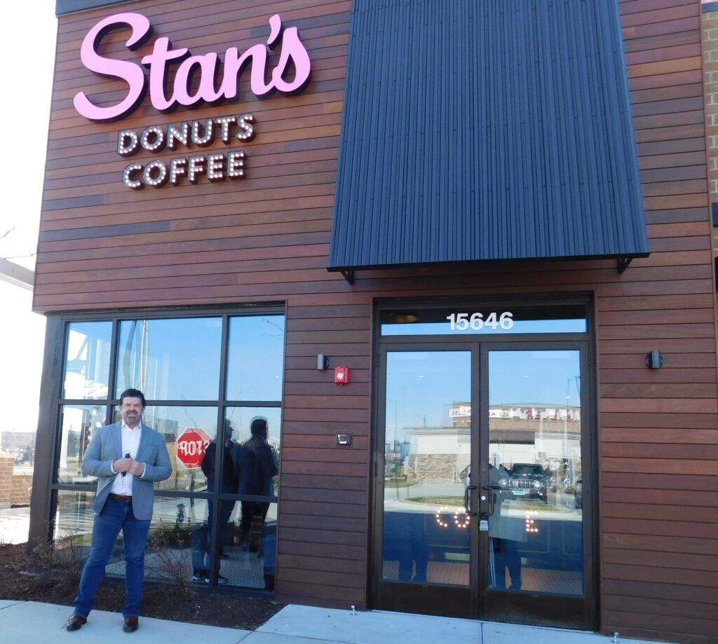 Founder Rich Labriola stands outside the new Stan's Donuts & Coffee in Orland Park. (Photo by Bob Bong)