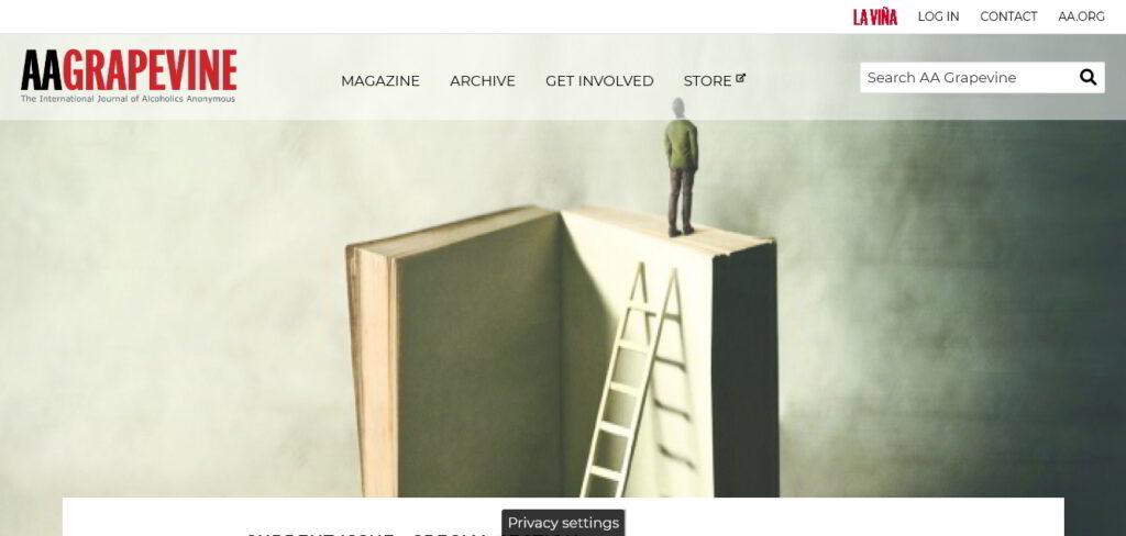 AA Grapevine Homepage