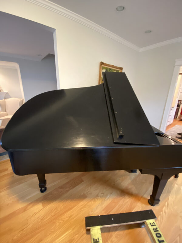 Signed Steinway body side