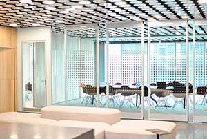 Image showing a movable glass wall partition