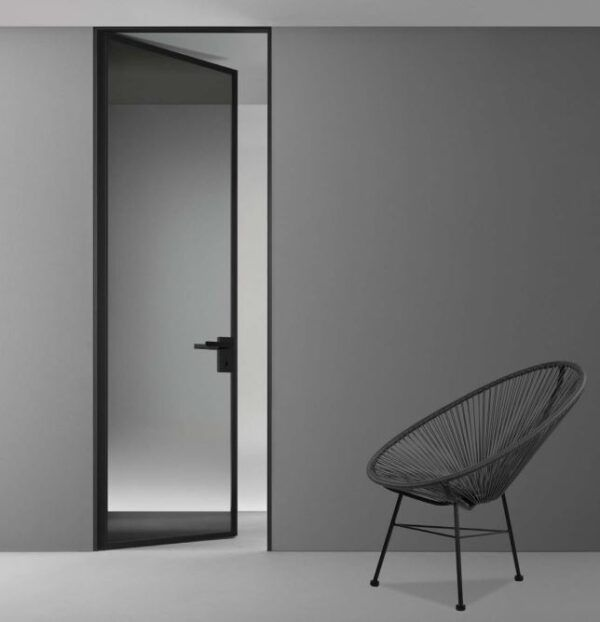 Image showing a framed glass swing door