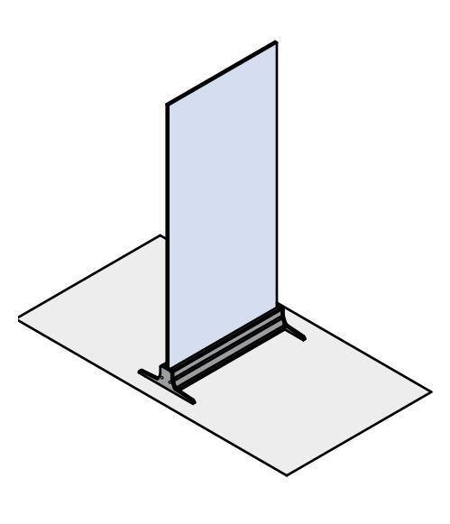 glass floor guard for separating tables