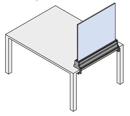 glass screen for desks and tables SH15
