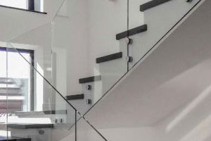 all glass railings for stairs