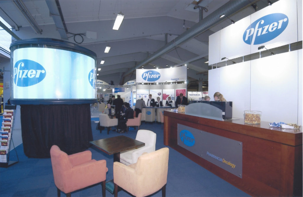 Exhibition Booth for Pfizer ECCO 12 | the European Cancer Conference | September 21 - 25, Copenhagen, Denmark.