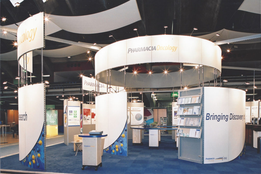 Exhibition Booth for Pharmacia Oncology | Pfizer | 27th ESMO Congress, Nice, France, 18-22 October 2002