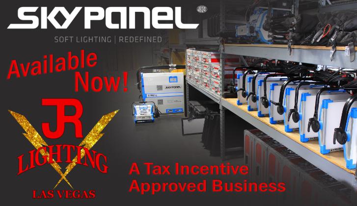 JR Lighting and Grip Rental Las Vegas | Home Slider Image | SkyPanel LEDs