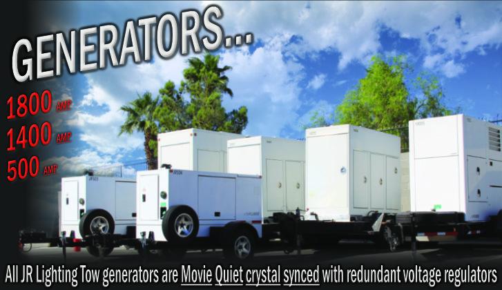 JR Lighting and Grip Rental Las Vegas | Home Slider Image | Tow Plant Generators