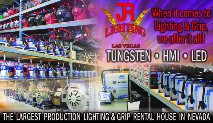 JR Lighting and Grip Rental Las Vegas | Home Slider Image | Lighting & Grip Rentals