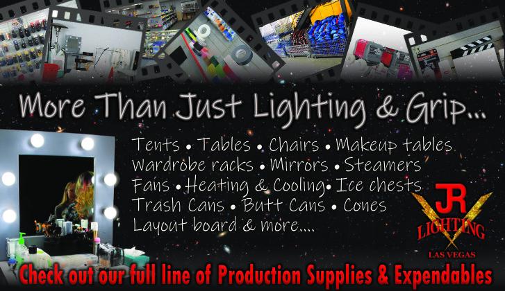 JR Lighting and Grip Rental Las Vegas | Home Slider Image | Production Supplies & Expendables