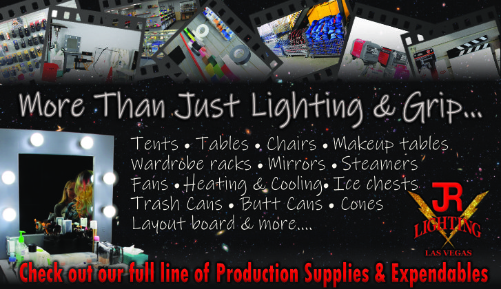 JR Lighting and Grip Rental Las Vegas | Home Slider Image | Production Supplies & Expendables