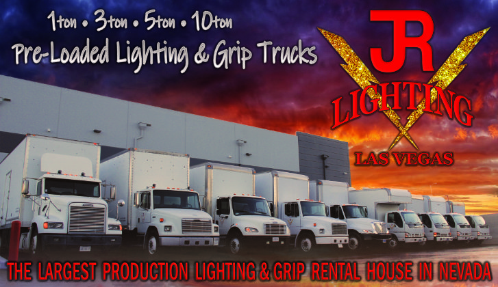 JR Lighting & Grip Las Vegas | Home Slider Image | Lighting & Grip Trucks