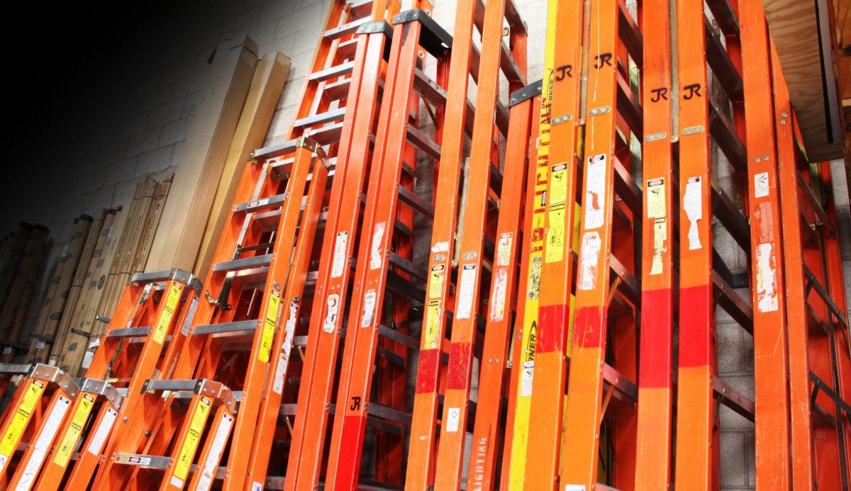 JR Lighting - Grip & Production Equipment -Ladders For Rent
