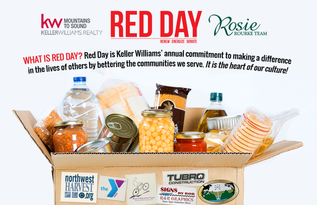 keller williams and rosie rourke team red day
