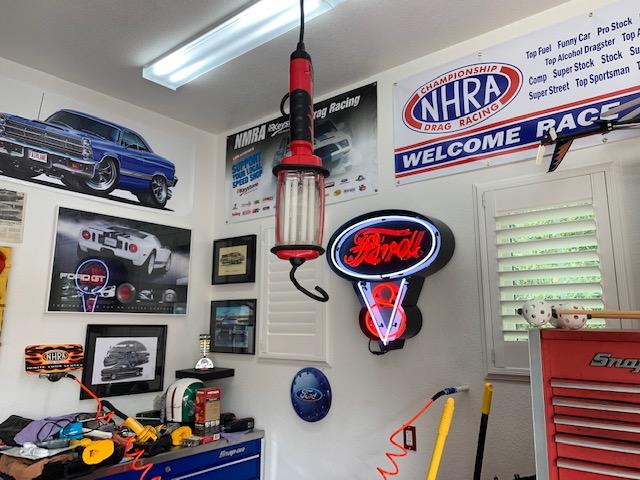 Teal Mustang Garage 2