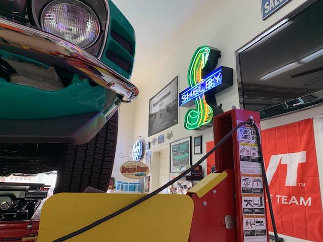 Teal Mustang Garage 3