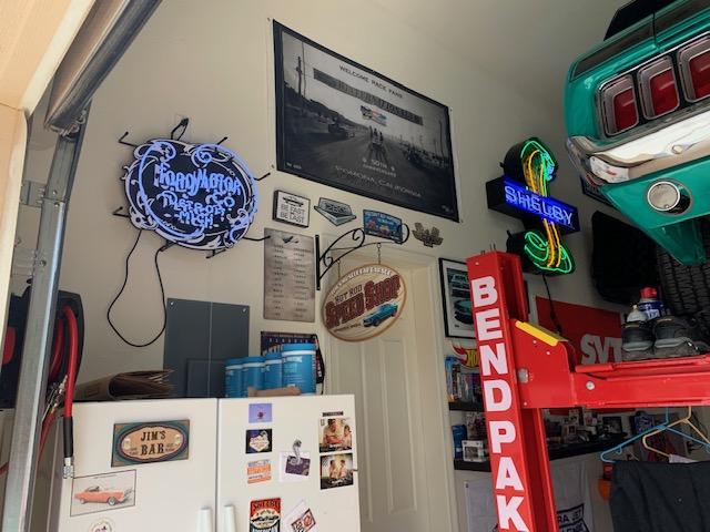 Teal Mustang Garage 5