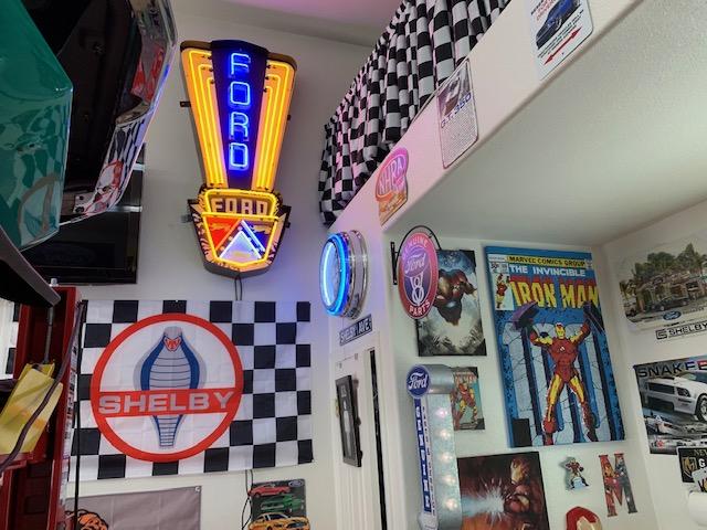 Teal Mustang Garage 6