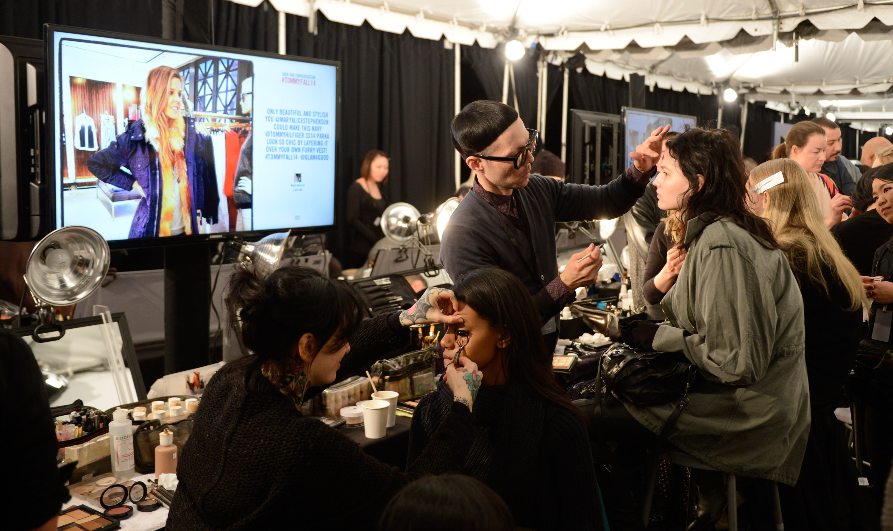Tommy Hilfiger Presents Fall 2014 Women's Collection - Backstage