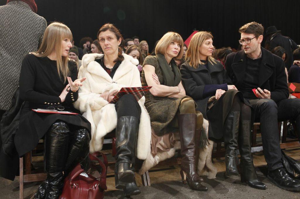Front Row Hilfiger Show Fall Winter - Anna Wintour