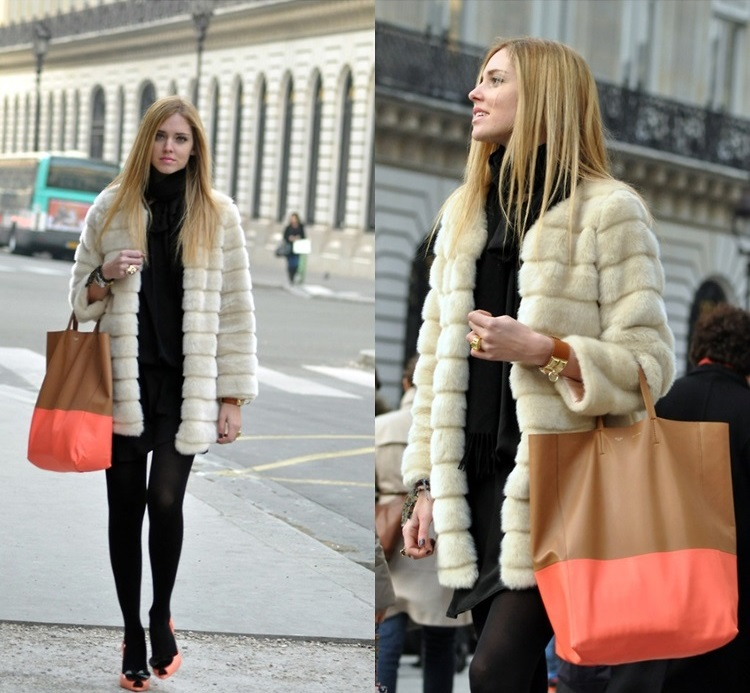 The blonde Salad faux Fur, Fashion Bloggers