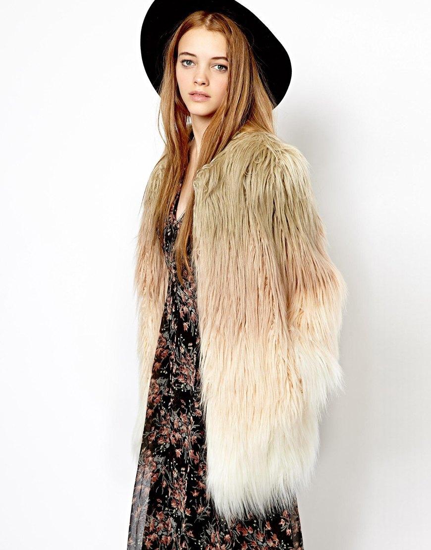 Boho faux fur, Abrigo de piel estilo bohemio