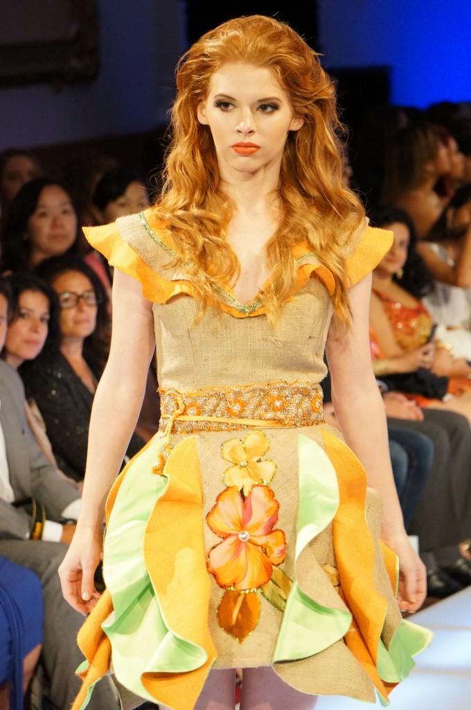 Moda con materiales organicos