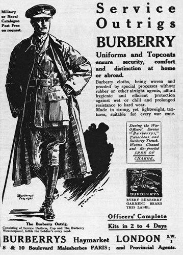 Burberry Military coat origin