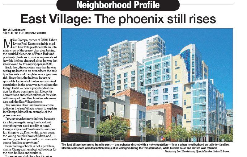 San Diego Union-Tribune Neighborhood Profile Article 2 Copywriter Al Lefcourt
